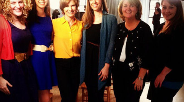 """Salina radio personality Roxanne (far right) with the other """"Scary Mommies"""" and 20/20's Elizabeth Vargas."""