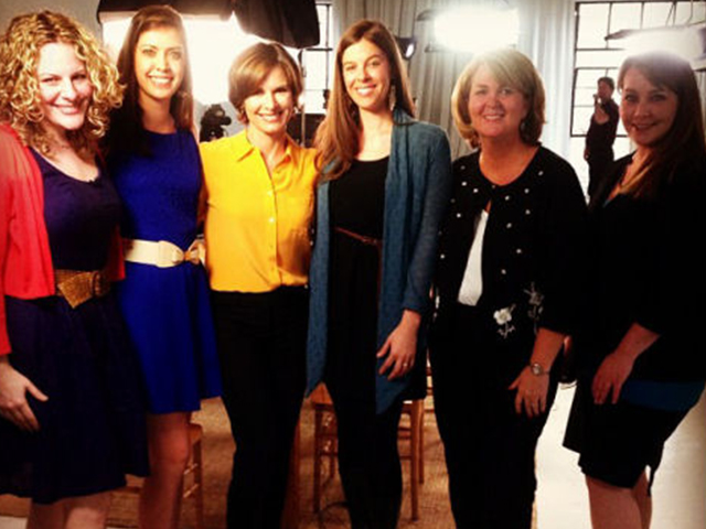 "Salina radio personality Roxanne (far right) with the other ""Scary Mommies"" and 20/20's Elizabeth Vargas."