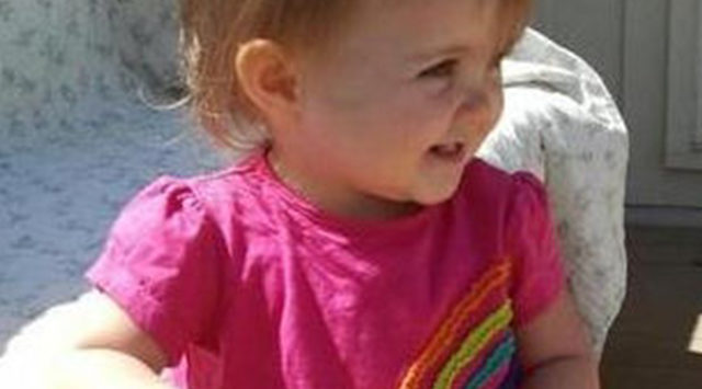 Lana-Leigh Bailey, an 18 month old female toddler, 2 feet tall, 30 lbs., with light brown hair, blue eyes, was last seen on May 1st in Olathe, Kansas on her way to rural Franklin county with her mother.