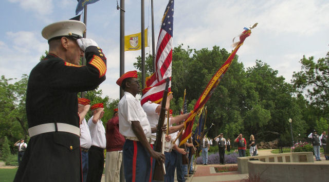 Memorial Day activities in Salina culminated with a gathering at the Saline County War Memorial in Sunset Park.