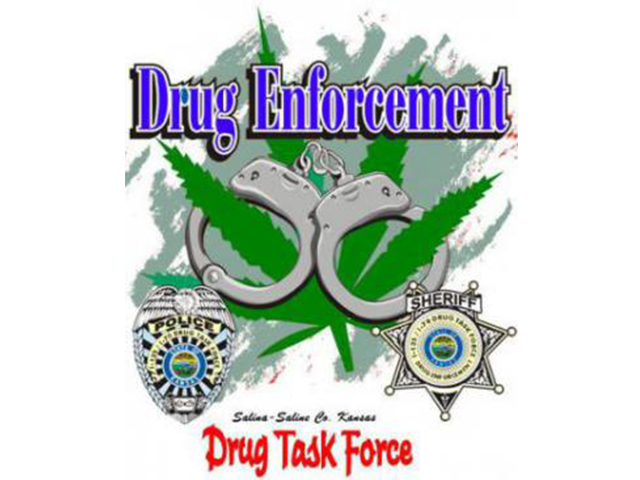 The Drug Task Force makes one arrest and is seeking another suspect after searching a Salina home.