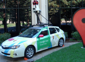 Cars in Google's Street View fleet have 15 lenses taking 360 degrees of photos.