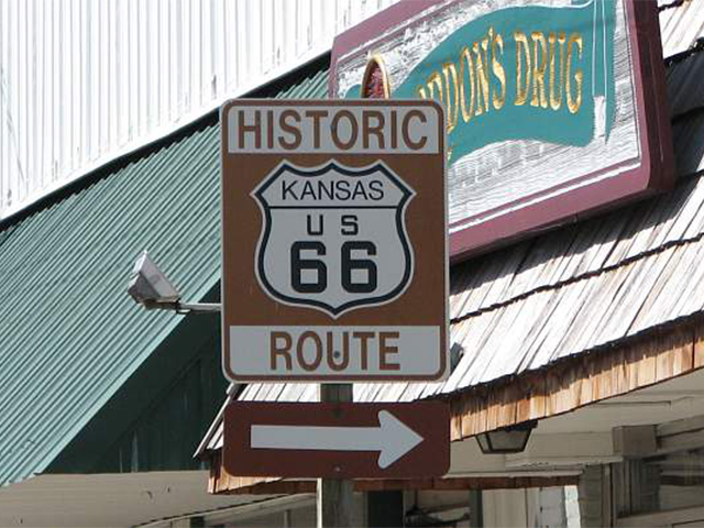 "States taking part in the ""Get your 'Clicks' on Route 66"" mobilization include Illinois, Missouri, Kansas, Oklahoma, Texas, Arizona and California."