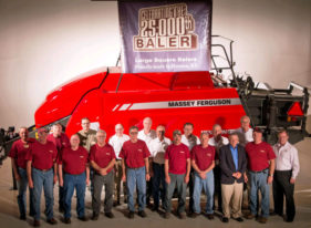 A Kansas agriculture manufacturing company celebrates a milestone. Hesston Corporation this week rolled out its 25,000th large square baler.