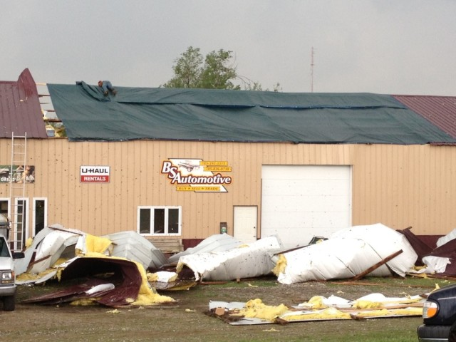 On Saturday night Minneapolis was hit by straight-line severe thunderstorm wind. Wind estimated at 80 - 100 miles per hour damaged multiple homes and businesses. (photo by Trevor Musgrove)