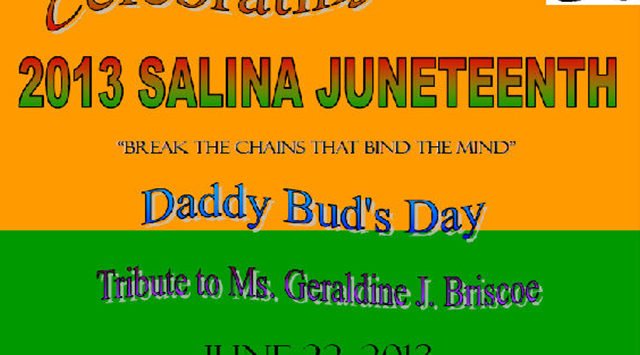 Salina will celebrate Juneteenth this Saturday. A daylong celebration is planned at the Carver Center at 315 North 2nd Street.