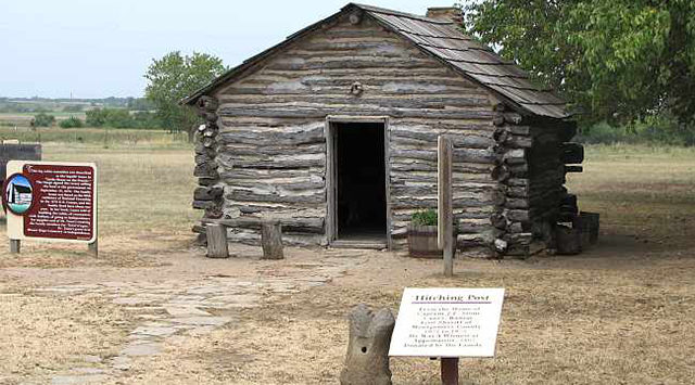 "Restoration work is expected to wrap up soon on a 140-year-old north-central Kansas cabin where the state song, ""Home on the Range,"" was written."