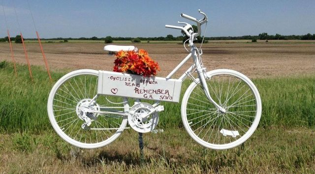 As an investigation continues into a fatal hit and run bicycle accident, friends of the victim remember her with a special memorial.