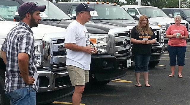 The final four all got to draw a key to a brand new Ford F150 or 250 trucks. Inside each truck was an envelope containing a prize, so each were surprised to see what was inside when they opened the truck coordinating with their key.
