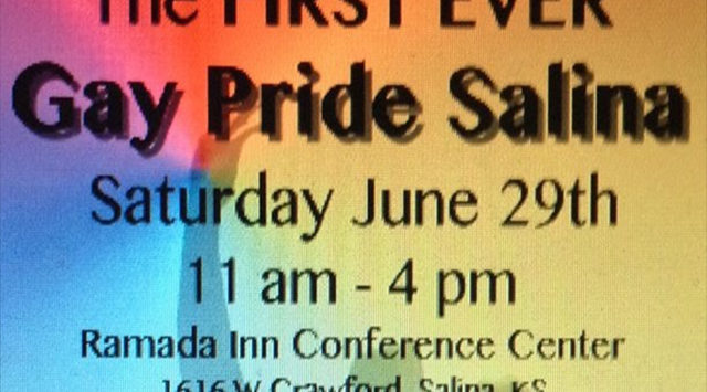 """Salina's first ever gay pride event is scheduled for this week. The """"Gay Pride Salina"""" event will be a full day of activities."""