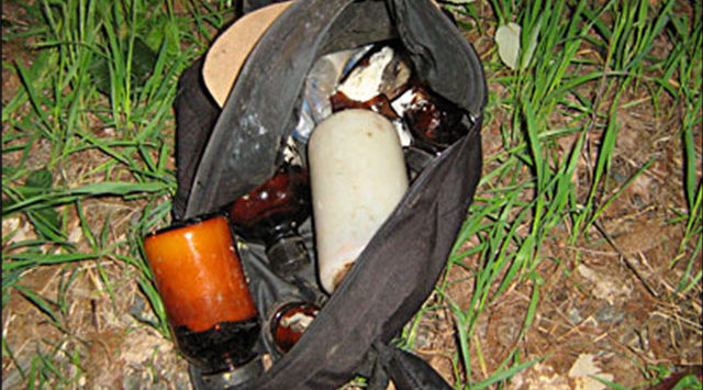 "Police say a search of the backpack turned up what they called an active, ""one-pot"" mobile meth lab."
