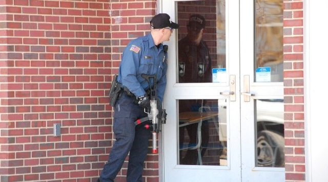 Officer during active shooter drill