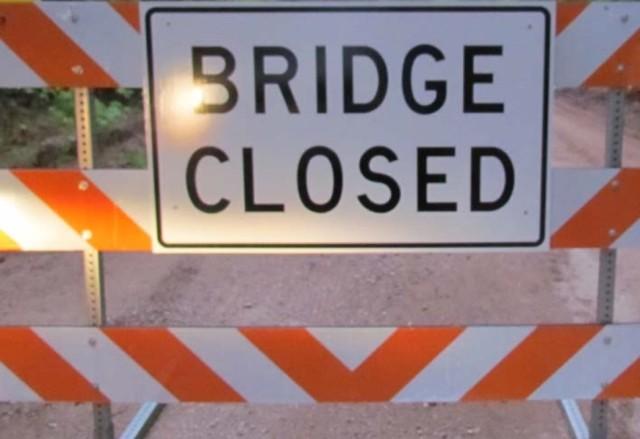 Work Abruptly Stops on County Bridge