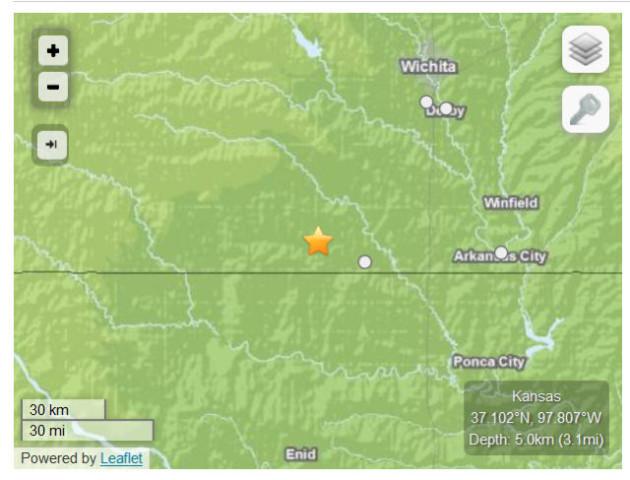 Small Quakes Shake South-Central Kansas