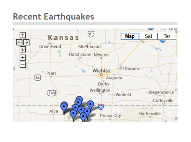 Series of Earthquakes Along Oklahoma, Kansas Border