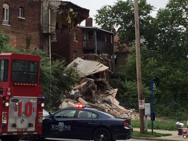 Crews demolish partially collapsed KC church