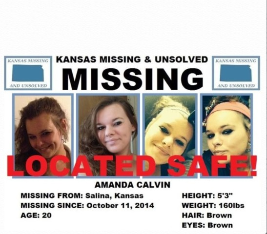 Missing Salina Woman Located Safe