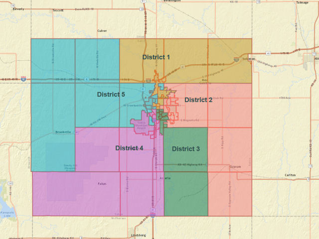 New County Commission District Map Shared