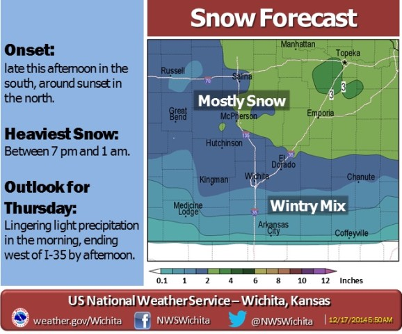 Freezing Drizzle, Snow Anticipated Late Wednesday