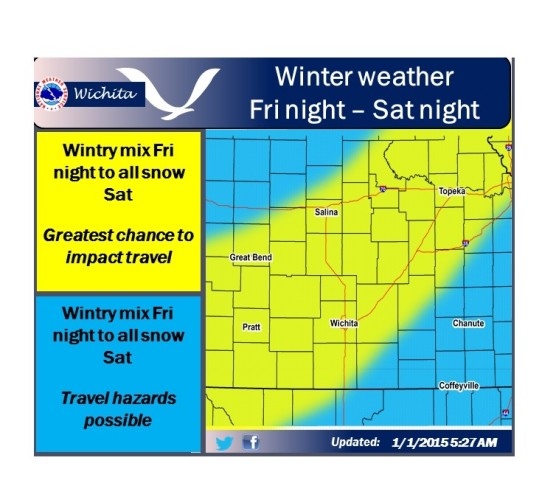 First 2015 Winter Storm Developing