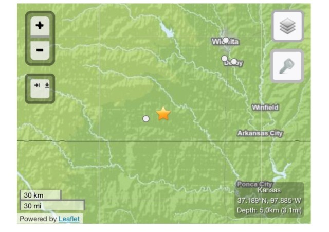 Two Earthquakes Shake Southern Kansas