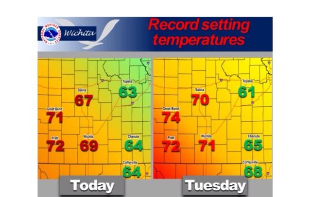 Record Warm Temperatures Possible