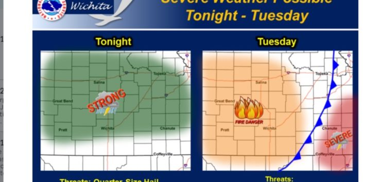 first severe weather of spring possible