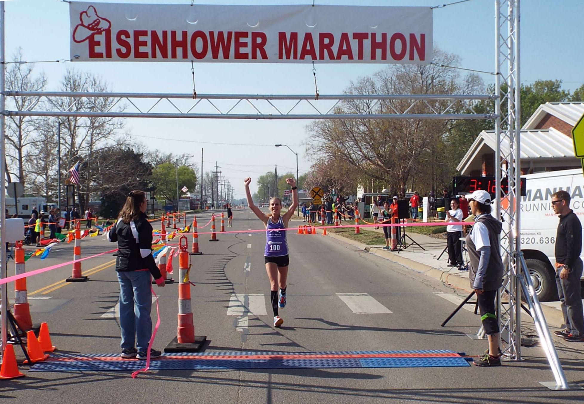 Katie Kramer Ochoa wins the women's marathon.