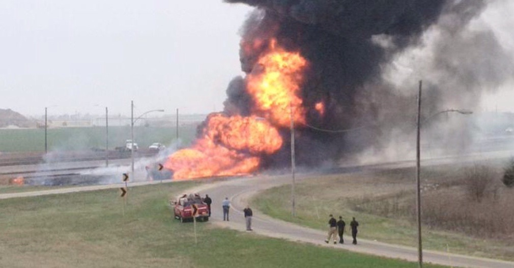 Semi Rolls, Bursts Into Flames
