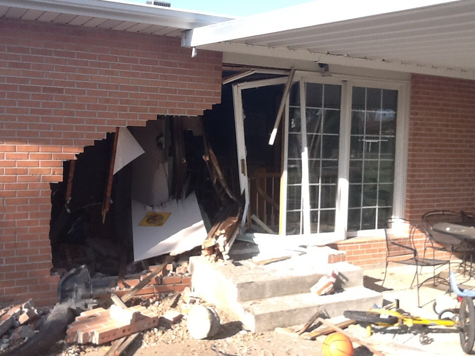 PHOTOS: Car Slams Into Salina Home
