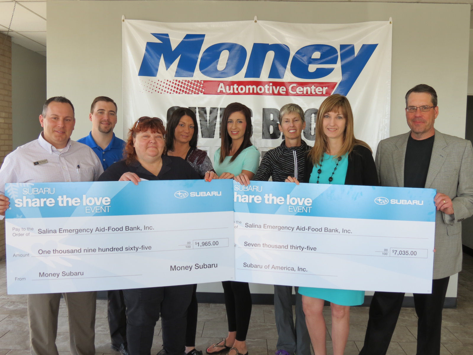 Business Makes $9,000 Food Bank Donation