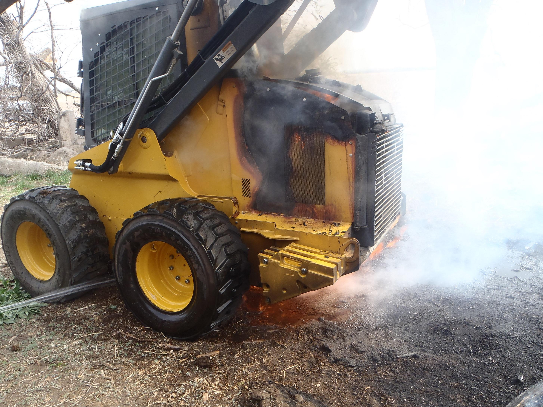 Blaze Consumes Skid Steer