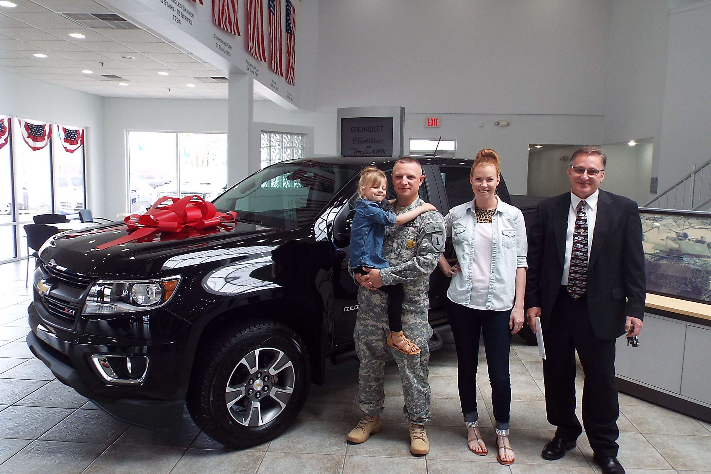 Soldier, Family Given New Truck