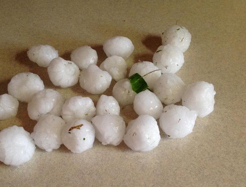 Hail Storm Leaves Major Damage
