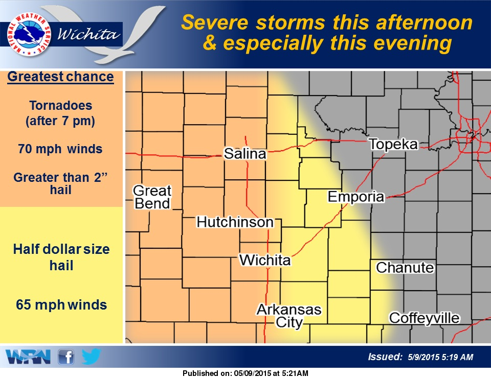 Saturday Severe Weather Possible