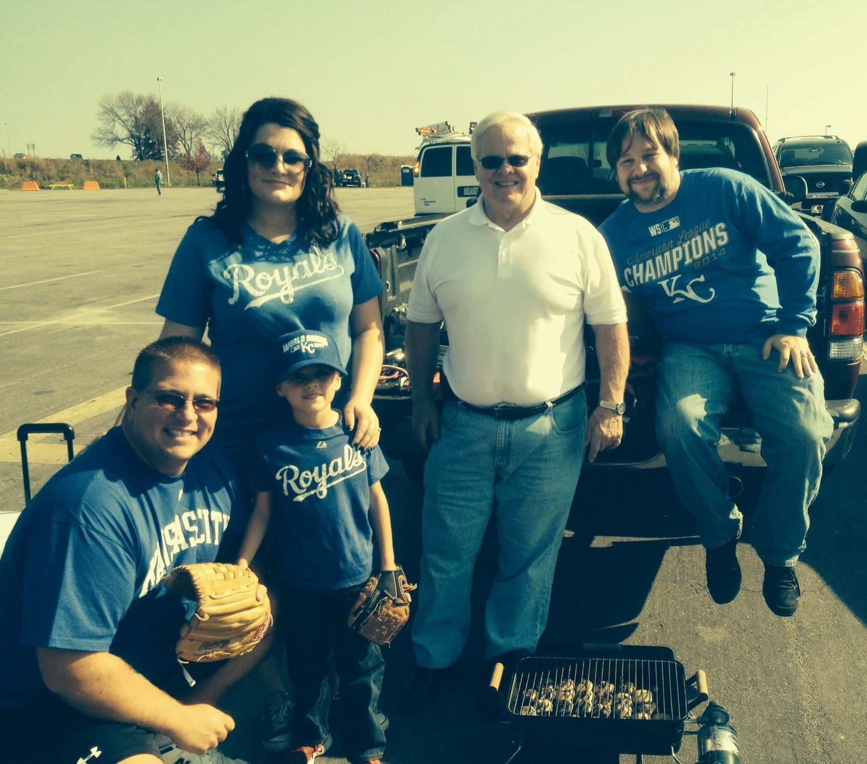 Matt Gerry and a group of friends were interviewed on KSAL Radio as they tailgated at the World Series.