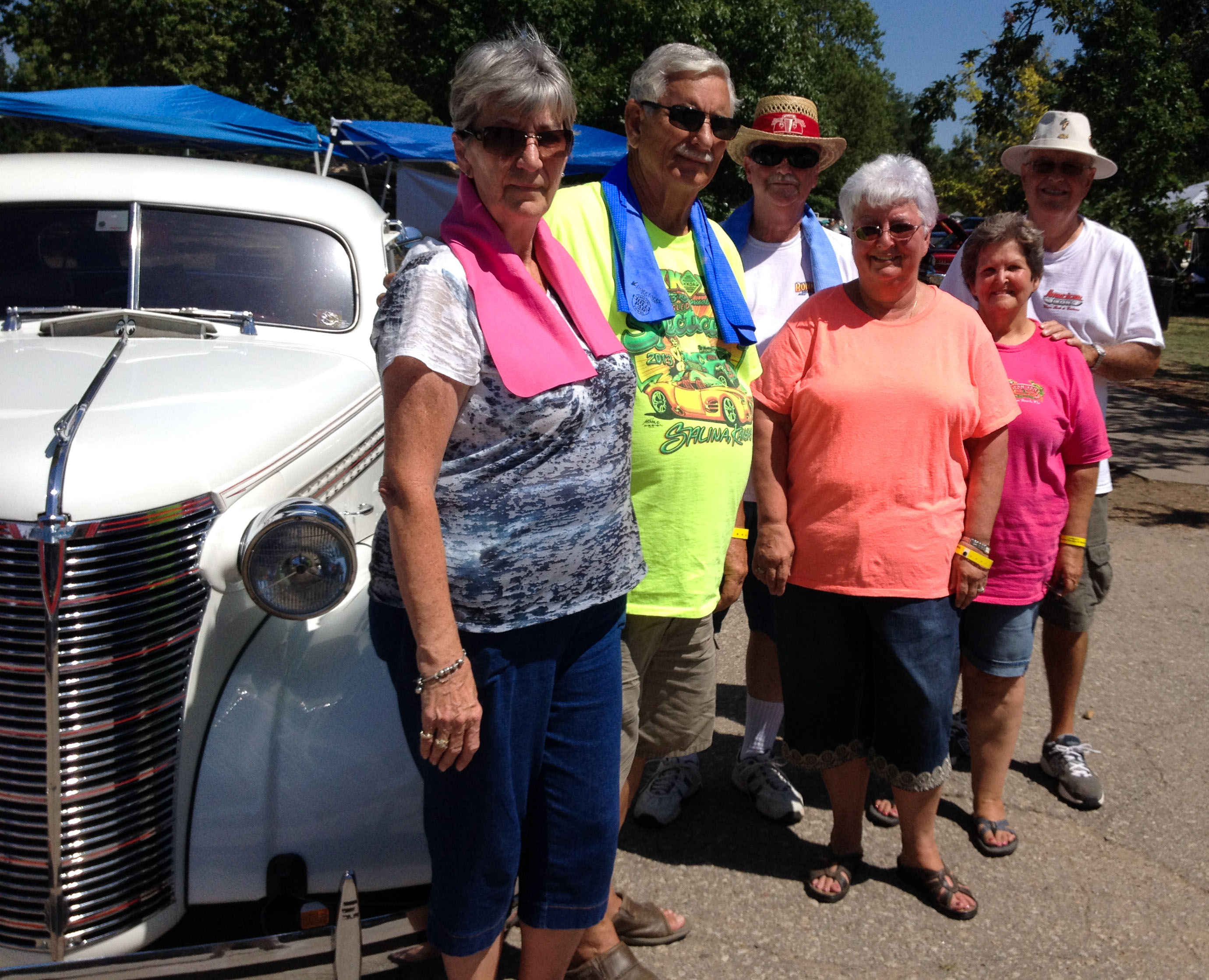 Clifton (w/blue scarf) and crew ready to hand out cold water and hope at the 2015 KKOA Leadsled Spectacular