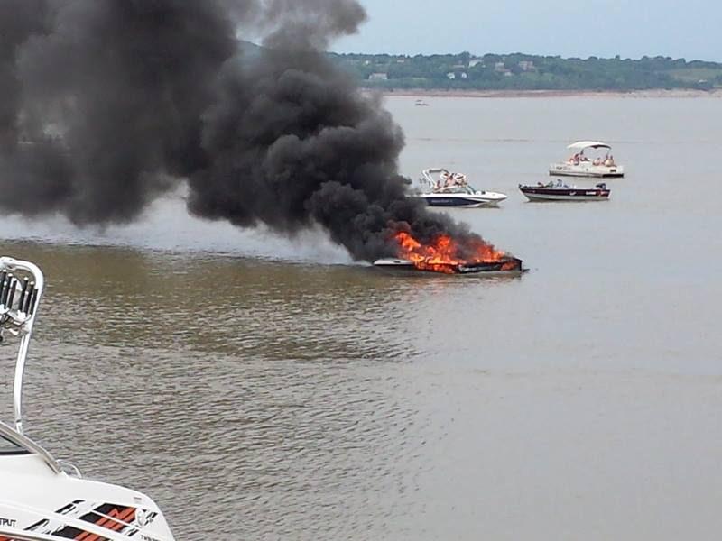 Fire Destroys Boat On Tuttle Creek
