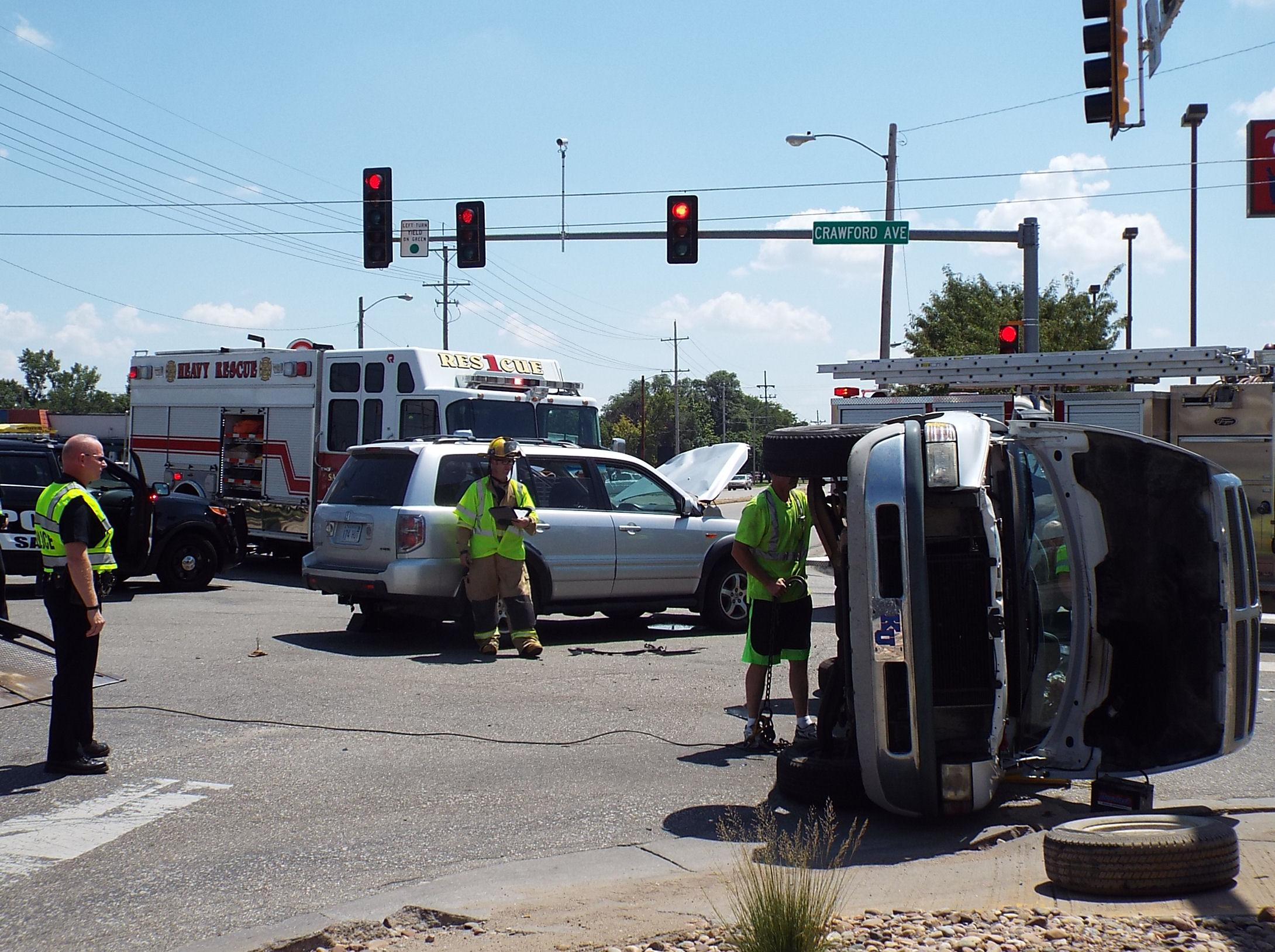 No One Hurt In Dramatic Three-Vehicle Crash