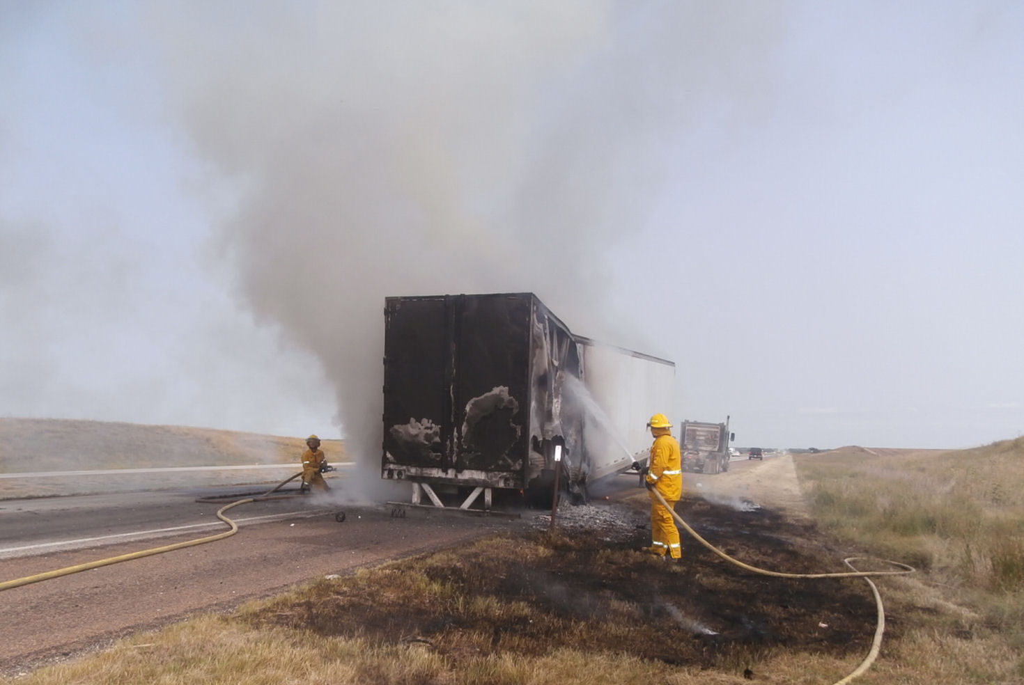 Semi Catches Fire