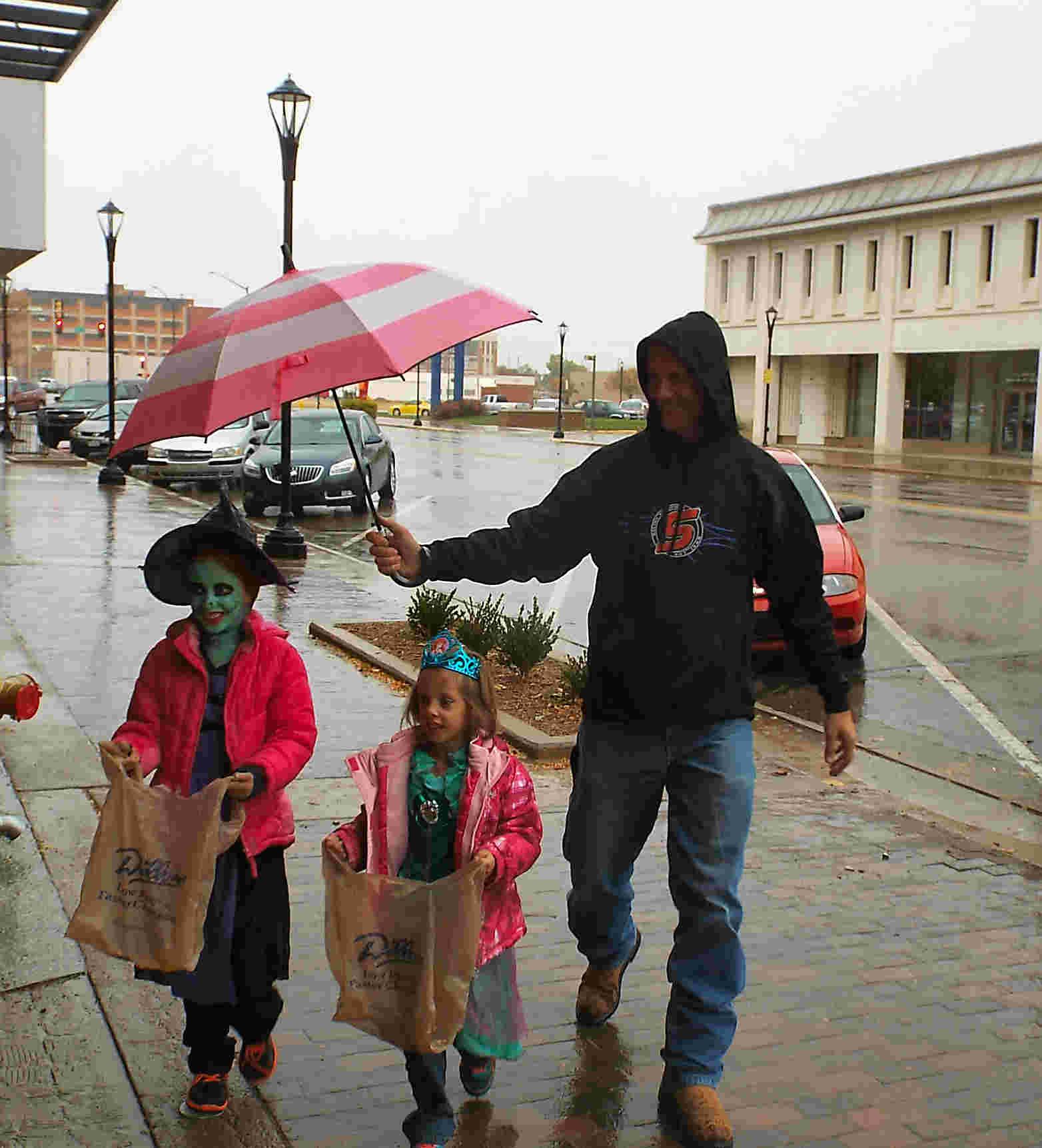 Halloween Fun in the Rain