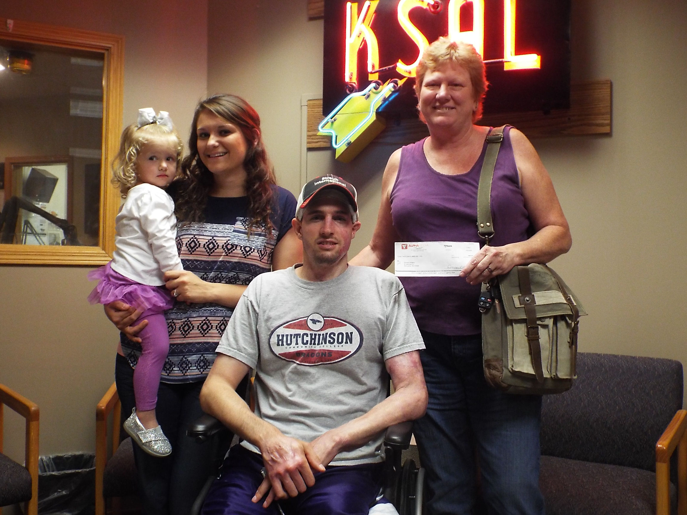 Radio Contest Winner Donates to Family