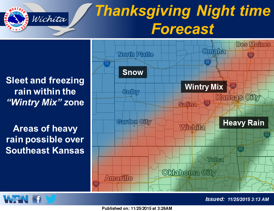 Thanksgiving Wintry Mix Anticipated