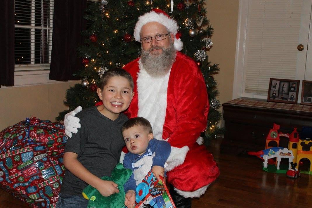 Master Officer Jennings volunteered in the community as Santa