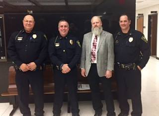 Salina Retires Three Police Officers Friday