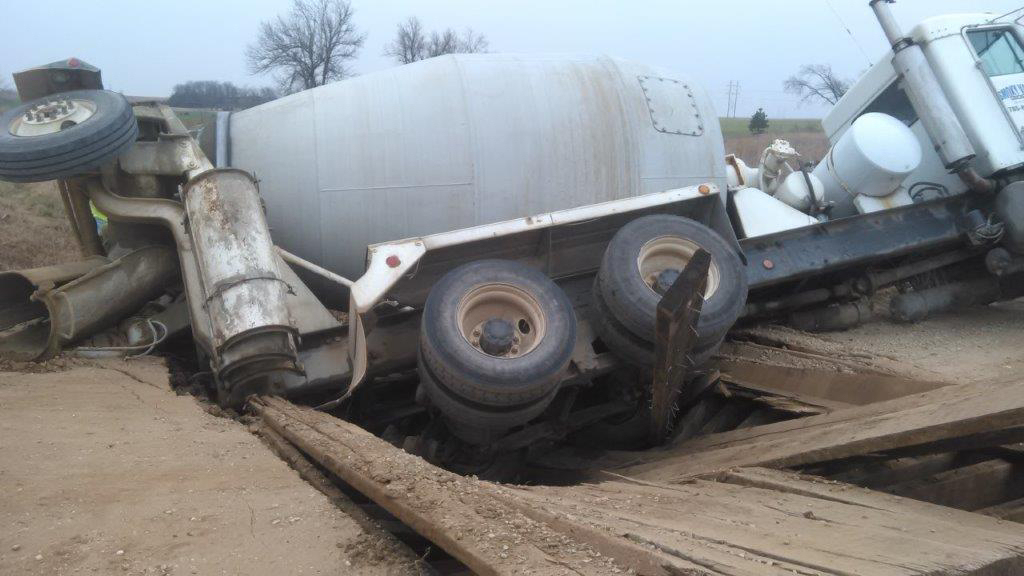 Concrete Proves Too Much for County Bridge