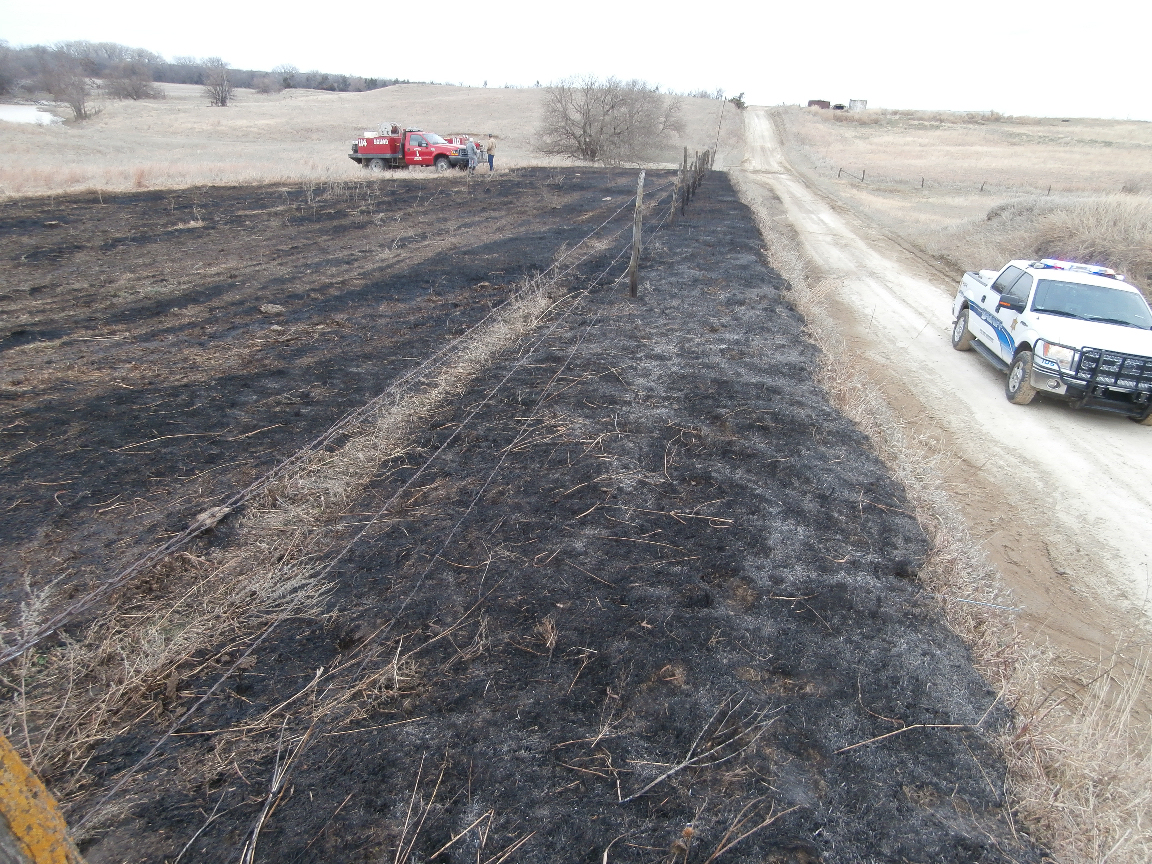 Grass Fire Intentionally Set in County