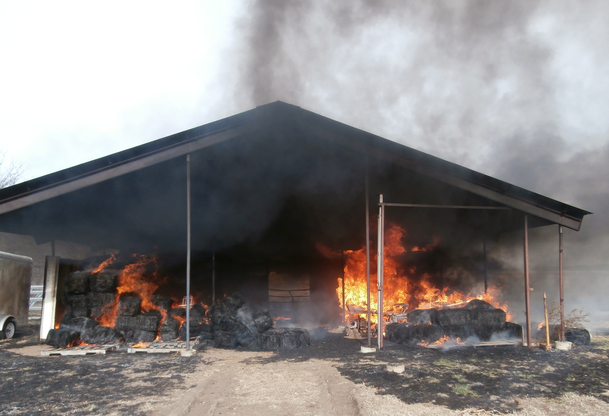 Barn Fire Leaves Irreplaceable Damage