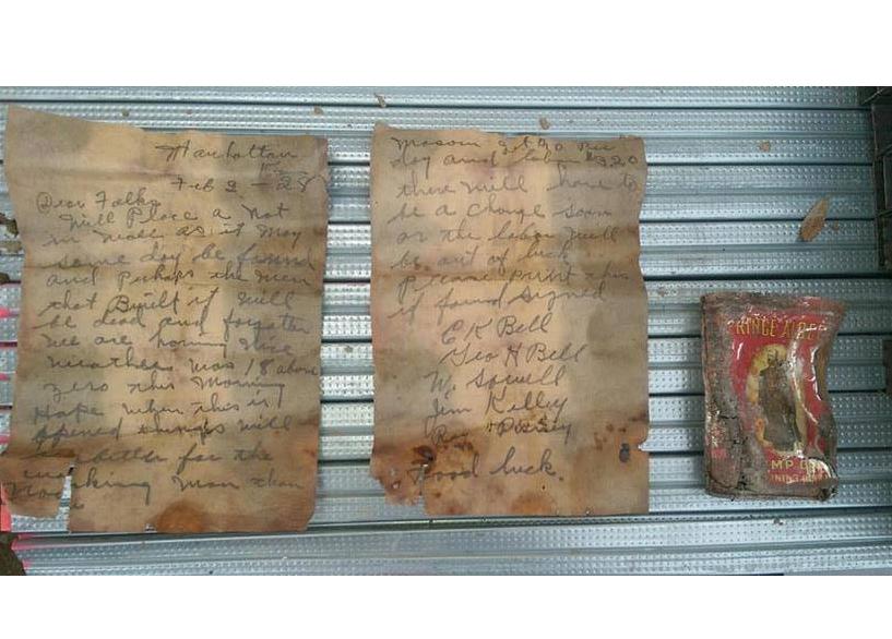 KSU Mason Finds 88-Year-Old Note at Stadium
