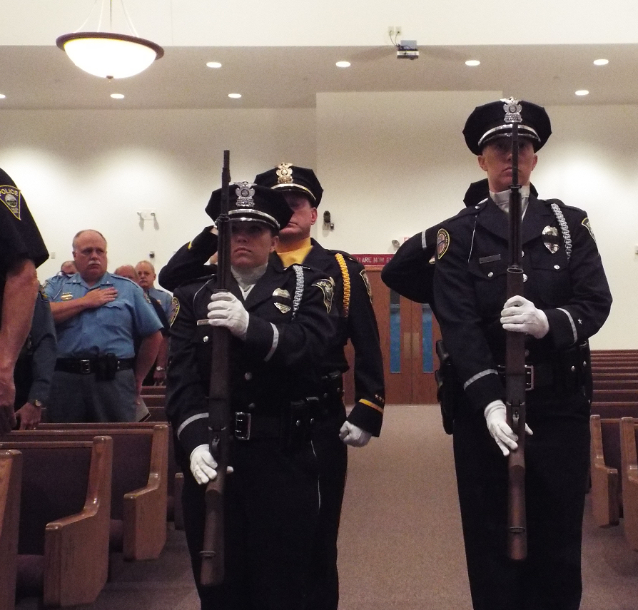 The Salina Police Honor Guard presented the colors.